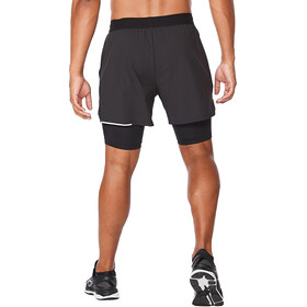 "2XU Aero 2in1 5"" Shorts Men, black/silver reflective"